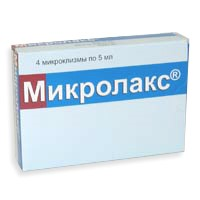 Микролакс - соляной слабительное средство